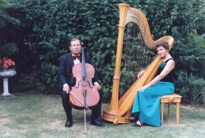 Harp - Cello Duo with husband
